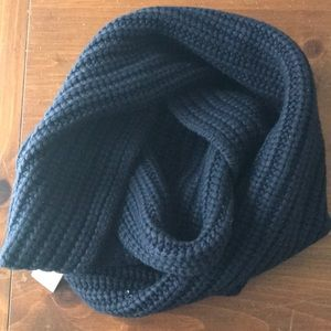 JCREW Wool Blend Chunky Ribbed Infinity Scarf Navy